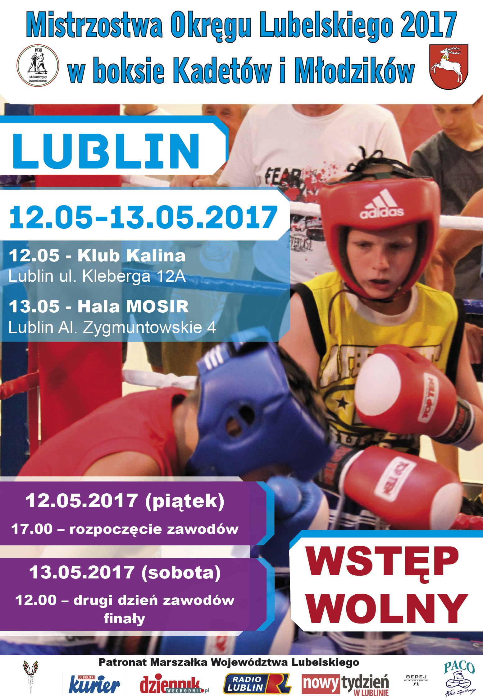 Plakat boks - mistrzostwa okregu 08.05.2017